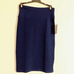 LuLaRoe Textured Dark Blue Cassie Skirt   XS - NWT